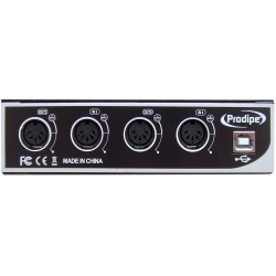Interface MIDI USB 4in/4out